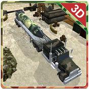 3D陆军货运卡车...