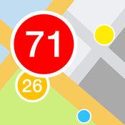 签入热地图由 Foursquare (Swarm) 1.2