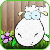 小小的羊农场着色书:颜色您的网页和油漆农场图纸的动物和绘画游戏的孩子
