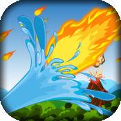 火山火球雨 - 水炮射击防御游戏 免费 1