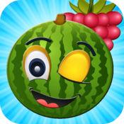 水果粉碎凹凸 - 拼图比赛3水果为孩子们 1