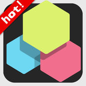 1010六边形彩色方块合成消除! 1