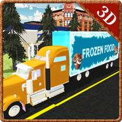 冷冻食品卡车模...