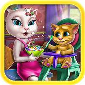 猫猫喂养小猫奇奇 -宝宝教育巴士游戏