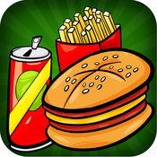 汉堡挑战癫狂 - 交换和移动美味的餐厅符号