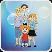 我的家庭 - PetraLingua® 课程将教您学习基本的 英语, 西班牙语, 法语, 德语, 中文 和 俄语