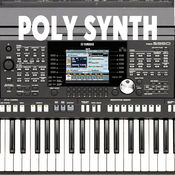 保利合成器(低延迟)Polyphony synthesizer with a low delay (low latency musical synth) and distortion HD version