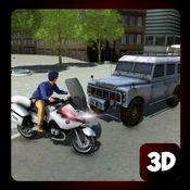 警车摩托车追逐 - 真正的警察城市驱动 1