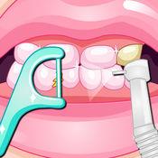 漂亮女孩牙科手术
