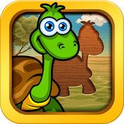 献给孩子们的趣味动物智力拼图游戏
