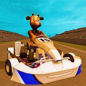 疯狂的动物卡丁车模拟器