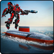 机器人潜艇作战...