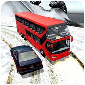 冬天公共汽车雪...