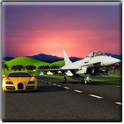 喷气飞机Vs的赛车3D 1