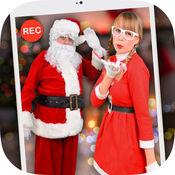 跟圣诞老人拍视频1