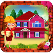 女孩粉红房子建设 1