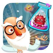 疯狂医生大战怪异病毒 - 一个有趣的智力手指滑动匹配游戏