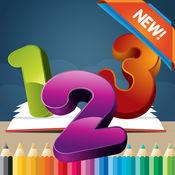 123图画书为孩子1-10岁:游戏免费学习写了西班牙的数字和词语,同时,每个着色页着色