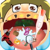 有点疯狂的舌头,牙医(牙齿)和脸部博士(DR) - 趣味儿童游戏