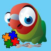 小鸟拼图为小孩