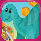 """小恐龙图画书画画造物主为幼儿和成人 - """"侏罗纪版"""""""