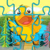 小鸭子世界拼图为孩子们