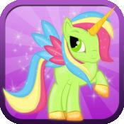 小魔麒  麟短跑:我的漂亮的小马公主与鲨鱼龙卷风攻击游戏 -