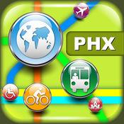 菲尼克斯(美国)地图 -下载地铁,轻轨线路图和旅游指南