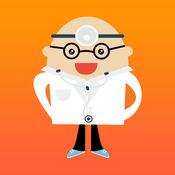 有点医学学校腹部医生 - 是医院和医生抢救病人。儿童游戏的女孩&男孩