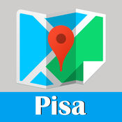 Pisa Map offline, BeetleTrip Tuscany subway metro pass travel guide route planner 意大利旅游指南地铁甲虫比萨离线地图