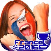 面对 国旗 照片 贴纸 对于 欧洲 杯 2016 - 最好的 图片 编辑器 对于 所有 足球 体育迷