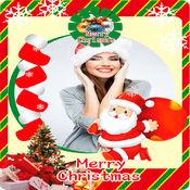 快乐圣诞相框-垂直卡