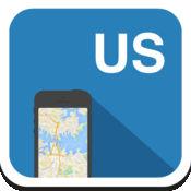 美国 离线地图,指南,天气,酒店。免费导航。GPS