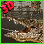 鳄鱼模拟器3D:野生动物 - 扮演一个野生鳄鱼和狩猎农场动物