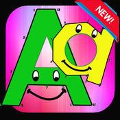 ABC彩图点到点,为孩子和幼儿连接点数量着色页 1.0.1