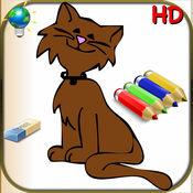 儿童和婴儿为iPhone和iPod-56的易着色为孩子们与动物,小丑和着色书