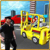 城市警察叉车游戏3D