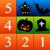Numbers Solitaire Halloween Edition - 数字接龙。滑动手