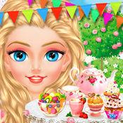 辛德瑞拉小公主的下午茶 - 儿童甜品制作和女生服装化妆游戏