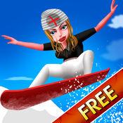 Nurse Vacation Winter Fun : 滑雪板运动寒冷周末的女孩