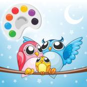 可愛的貓頭鷹著色繪圖頁為孩子 1.1