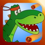 运行迪诺运行2:可爱的宝宝T-REX恐龙在一个超级好玩的侏罗纪