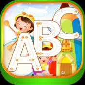 abc 学习写和画 字母 与许多图片幼儿园和幼稚园的字母