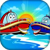快艇追逐的孩子 FREE - 海洋赛车冒险