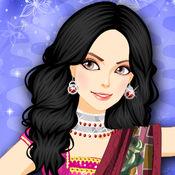 Dressup! Bollywood Dance Salon - 可爱时尚少女和孩子们游戏