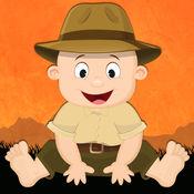 适合0-3岁儿童的免费迷你游戏——野生动物园、野生植物和野生动物卡通