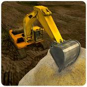 沙挖掘机城市建...