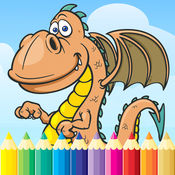 龙 恐龙 图画书 - 绘画迪诺游戏高清,都在1动物系列免费为儿