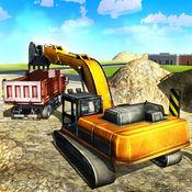 沙挖掘机卡车模拟3D - 重型建筑挖土机模拟器游戏 1