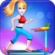 健身房 锻炼女孩 身体素质